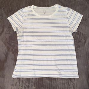 pacsun white and blue cropped t shirt